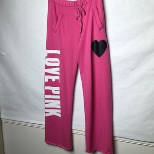 Pink Victoria's Secret wide leg sweat pants
